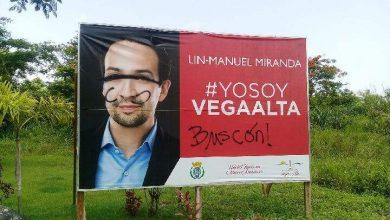 Photo of Vandalizan valla en honor a Lin Manuel Miranda en Vega Alta