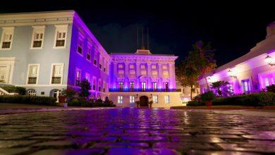Photo of Se enciende de violeta La Fortaleza