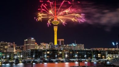 Photo of Así fue la llegada del Año Nuevo en Nueva Zelanda