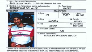 Photo of Reportan a joven desaparecido en Guaynabo