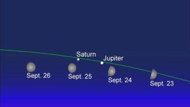 Photo of La Luna estará en conjunción con Júpiter y Saturno esta semana